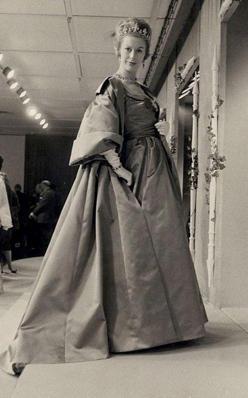 Model wearing silk dress