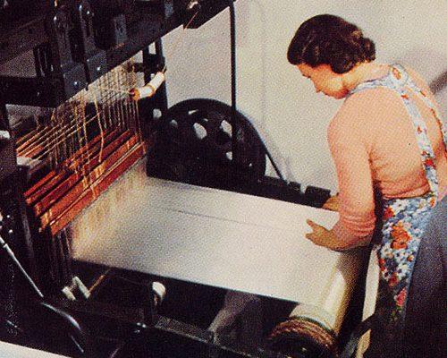 Master weaver at work