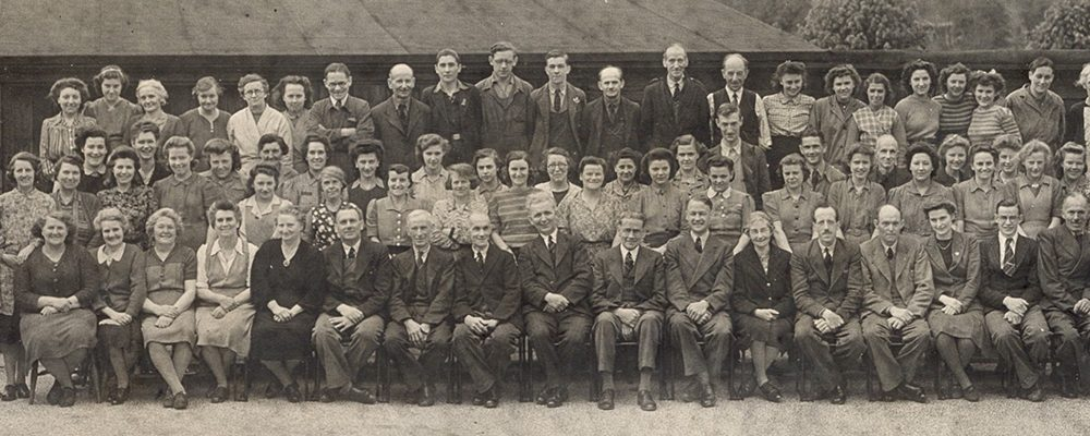 Stephen Walters staff, group photo from 1949