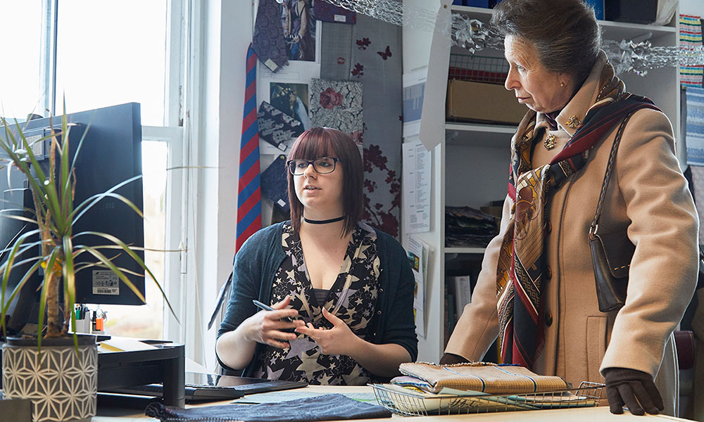 The Princess Royal meets fabric designer